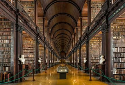 Dublinas Universitātes Trīsvienības koledžas bibliotēkas interjers